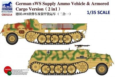 BRONCO CB35214 WWII German sWS Supply Ammo Vehicle & Armored Cargo Vers. in 1:35
