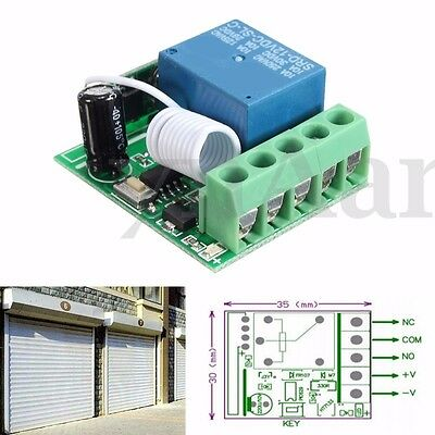 1/2/4 CH Channel Relay Switch Wireless RF Remote Control Receiver 315/433MHz New