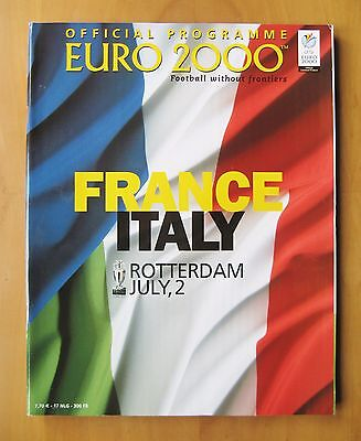 2000 Euro Championships Final FRANCE v ITALY *Exc Condition Football Programme*