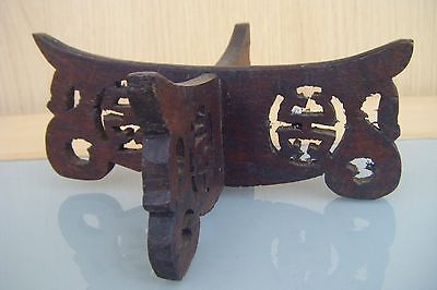 chinese carved wooden pot stand