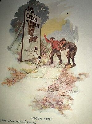 Cream Of Wheat Ad Rastus  Black Man Memorabilia 1914 Politically Inco Brewer Art
