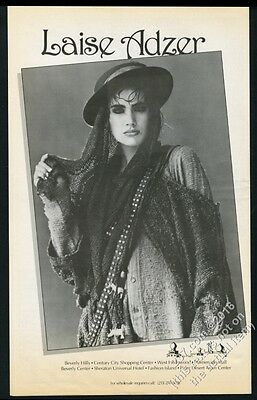 1985 Laise Adzer sweater fashions woman photo BIG vintage print ad