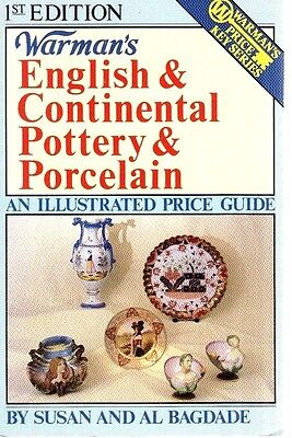 English & Continental Pottery & Porcelain Book-Illustrated Price Guide-Warman's