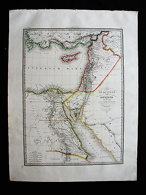 1827/30 LAPIE - Orig. BIG map: Egypt, Middle East, Asia, Africa, Lebanon Red Sea