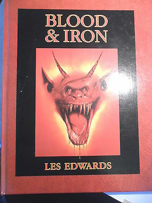 Blood and Iron Les Edwards Warhammer 40k Fantasy excellent art book