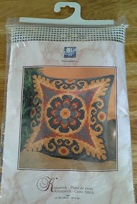 Verachtert wool cross stitch cushion front kit bnwt