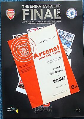 FA CUP FINAL PROGRAMME 2017 Arsenal v Chelsea with FREE 1960s ARSENAL programme!