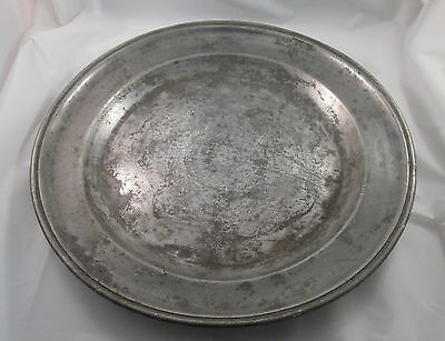 A Large 19th Century Pewter Plate / Platter