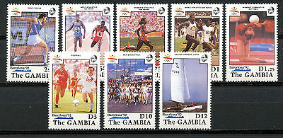 Gambia Stamps, Serie, The Olympic - Barcelona 1992, (8)