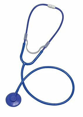 "Mabis 27"" Toy First Aid Dual Head Blue Single Use Stethoscope. Free Ship To Usa"