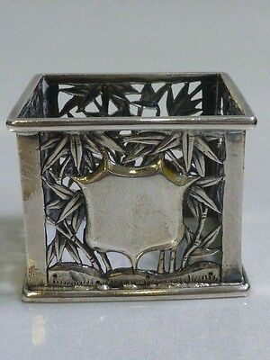 Chinese Export Silver Napkin Ring with Open Work