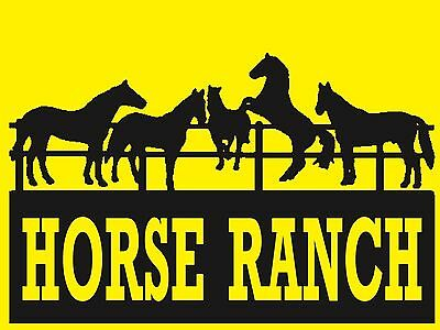 Horse Ranch - Sign- #ps-487/88....large