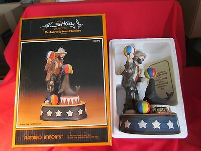 1987 Emmett Kelly Jr MUSICAL FIGURINE THE ENTERTAINER LIMITED EDITION w/Box