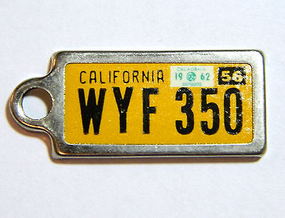 1956 California Disabled American Veterans Keychain  License Plate vintage