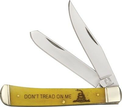 Rough Rider RR1381 Trapper Folding Knife Clip/Spey Blade 'Don't Tread On Me'