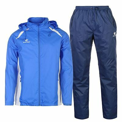 Kelme Ladies Hooded Zip Up Sports Tracksuit Elasticated Bottoms - Blue - Large