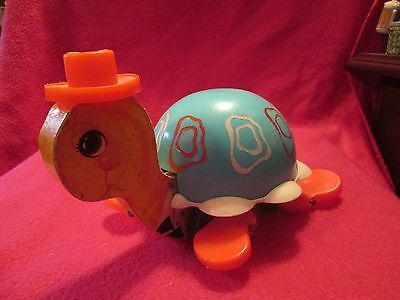 Fisher Price Turtle With Hat Pull Toy 773 1962