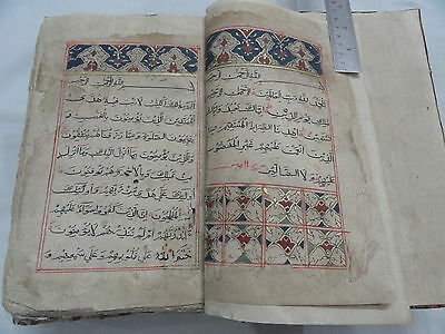 Islamic Arabic Kalam E Pak Koran Quran Manuscript Antique Collectible Rare Im490