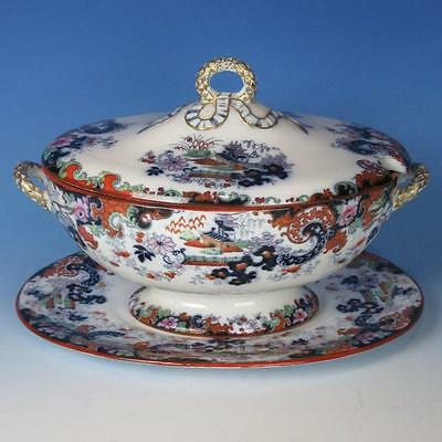 Ridgway Corey Hill Staffordshire Ironstone Large Soup Tureen with Under Liner