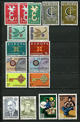 Luxembourg, Europa - Cept, Lote De 8 Series, Europa Stamps