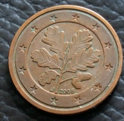 2008 2 Euro Cent Coin Oak Leaf And Acorn Design 163 0 50