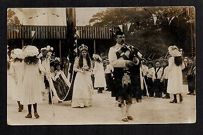 Leyland May Queen - Miss May Ainscough 1912 - real photographic postcard