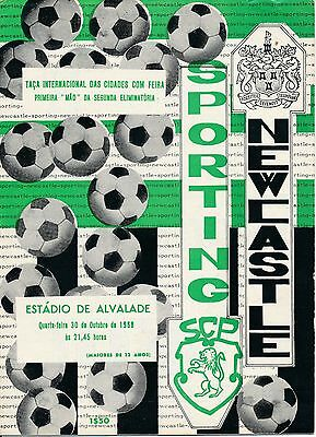 SPORTING PORTUGAL v Newcastle United (Fairs Cup) 1968/9