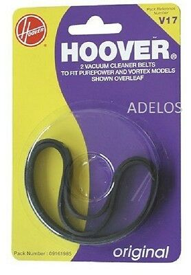 2x Genuine Hoover 09161985 V17 Vacuum Cleaner Belts 0385-0138 Purepower Enigma
