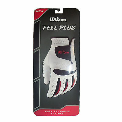Wilson Feel Plus Golf Glove (LEFT, Men's) Synthetic Leather NEW