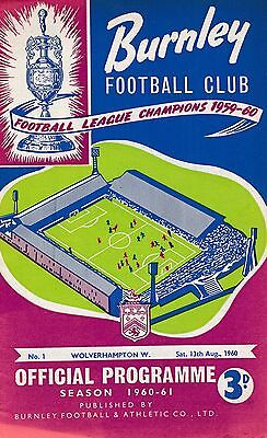FA CHARITY SHIELD PROGRAMME 1960 Burnley v Wolves