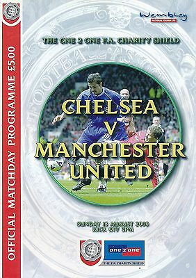 FA CHARITY SHIELD PROGRAMME 2000 Chelsea v Man Utd