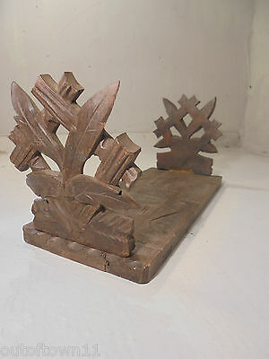 Vintage Black Forest Extending Book Slide , Book Ends , Stand , Rack   ..ref 706