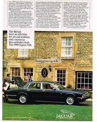1989 Jaguar XJ6 Black 4-door Sedan Vtg Print Ad