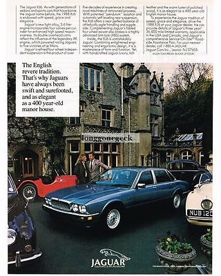 1988 Jaguar XJ6 Blue 4-door Sedan Vtg Print Ad