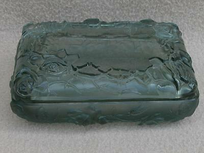 Antique Bohemian Czech Art Deco Schlevogt Ingrid Hoffman Smoke Glass Trinket Box