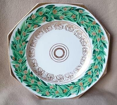 Stunning Antique Continental German Berlin Kpm Porcelain Octagonal Dish Hand P