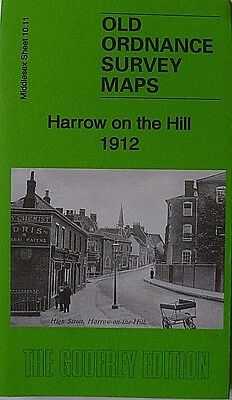 Old Ordnance Survey Map Harrow on the Hill  Middlesex 1912 Sheet 10.11 New