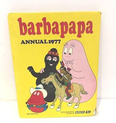 Vintage 1970S Barbapapa Children Activity Book Annual 1977