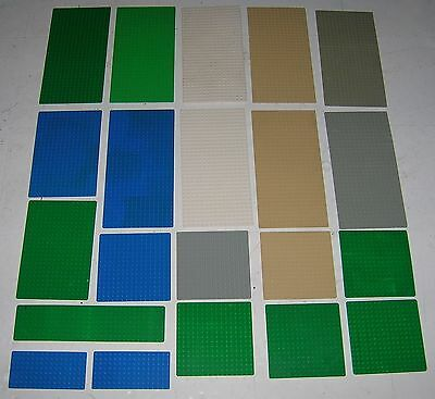 21 Lego Base Boards Green Blue White 9 16X32, 2 16X24, 7 16X16, 2 8X16, 1 8X32