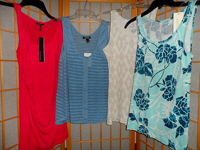 Lot Of 4 New With Tags Women's Size Small Summer Tank Tops Sonoma Apt. 9 Kandy