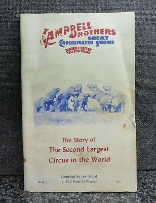 Campbell Brothers Great Consolidated Circus Shows Story Book #5 1957