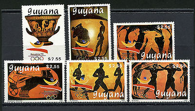 Guyana Stamps, The Olympic - Barcelona 1992, (6), Olimpiadas