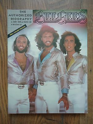 Vintage BEE GEES The Authorized Biography Book - With Rare Colour Poster – 1979