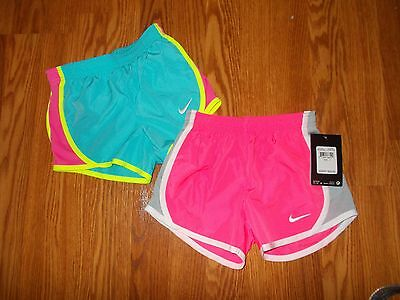 NEW NIKE Dri-Fit Girl's Size 4T 3-4 Years Lot Athletic Shorts Pink, Aqua NWT