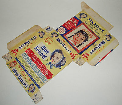 1950's Howdy Doody Blue Bonnet Margerine Box w/ Playroom Cut outs