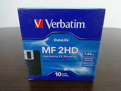 "3.5"" Floppy Disks Verbatim MF 2HD High Density 10 Formatted microdisks SEALED"