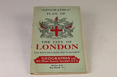 London Map Geographia of the City of London with Index Circa 1950