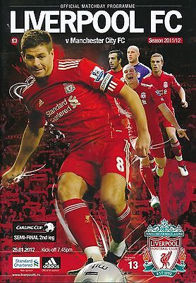 LEAGUE CUP SEMI FINAL 2012 Liverpool v Manchester City