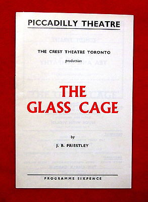 1957 Piccadilly Theatre The Glass Cage Theatre Program London England msc3