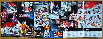 1985 HASBRO G1 Transformers Decepticons and Autobots Catalog / Foldout